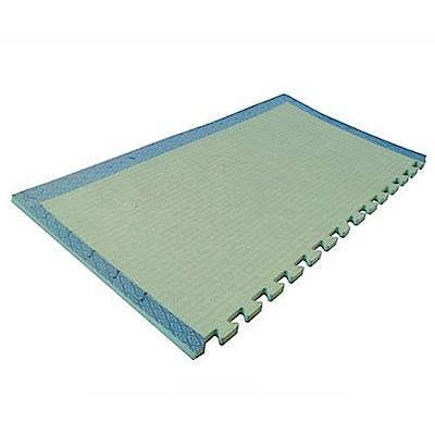 新生活家防潑水抗菌和風藺草紋地墊綠色47x92x1.5cm4入