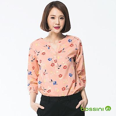 bossini女裝-七分袖造型襯衫07珊瑚色