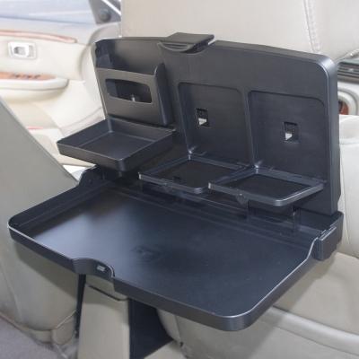 車用後座摺疊置物桌/置杯架