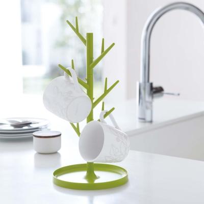 【YAMAZAKI】樹枝杯架-綠★樹枝收納架/首飾收納架/飾品收納架/廚房杯架