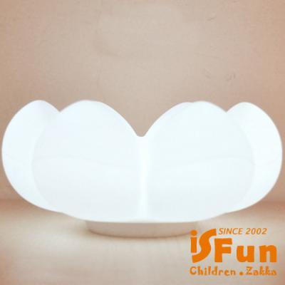 iSFun多肉花雲朵 USB觸碰矽膠置物造型夜燈 二色可選