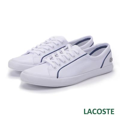 LACOSTE lancelle 女用綁帶休閒鞋-白色
