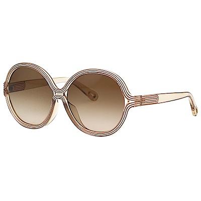 CHLOE 復古 太陽眼鏡 透明茶色 CE742SA