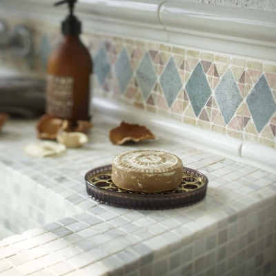 YAMAZAKI 金色年代肥皂架-黑