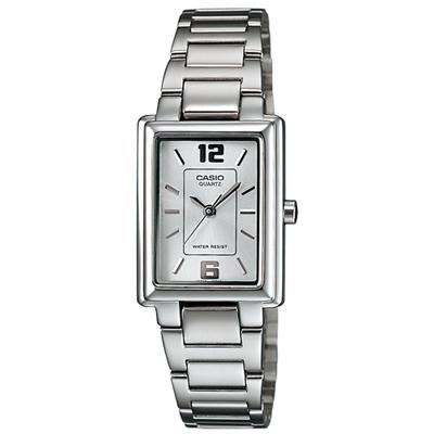 CASIO方采熟女知性女錶腕LTP-1238D-7A-白20mm