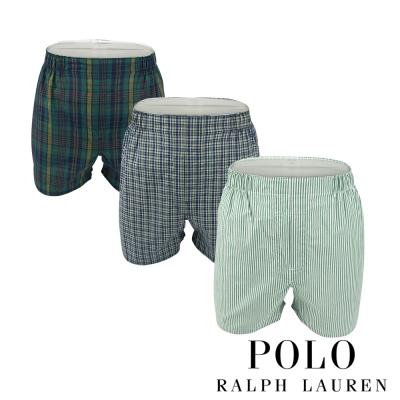 Polo Ralph Lauren 經典馬球純棉平口褲-3入組(M4D)