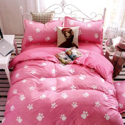 美夢元素 天鵝絨涼被床包組-雙人加大四件式 腳丫子