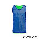 VTEAM 雙面穿吸排籃球背心-藍色