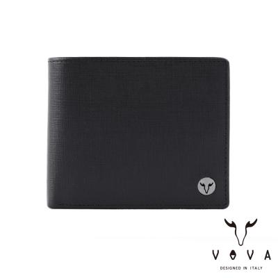 VOVA-凱旋系列8卡IV紋皮夾-黑色