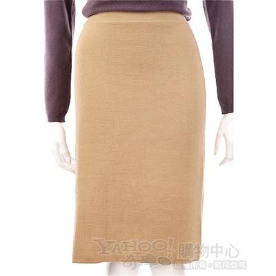 GENNY 駝色針織及膝裙