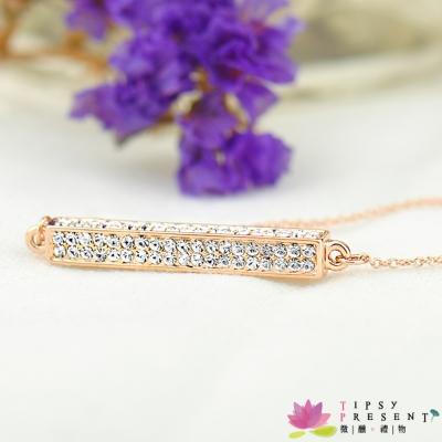 微醺禮物 項鍊 水鑽 鍍K金 絢爛滿鑽 項鍊 短鍊