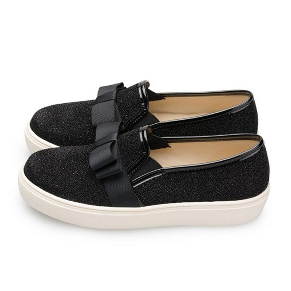FUFA  MIT 蝴蝶結造型懶人鞋 (FA41)-黑色