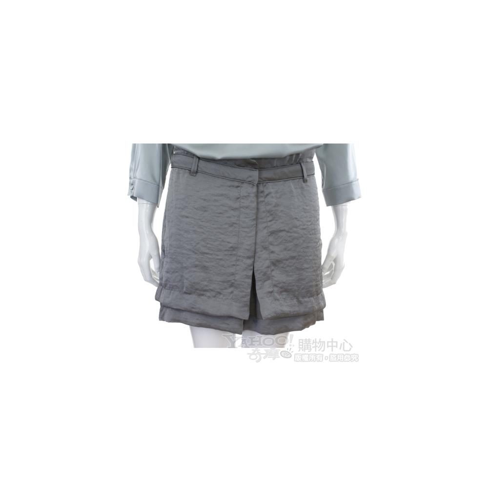 SCHUMACHER 灰綠色緞面款褲裙