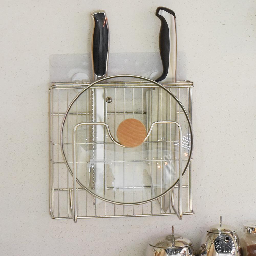 樂貼工坊 不鏽鋼鍋蓋架/刀具架/微透貼面-21.5x6x21.5 @ Y!購物