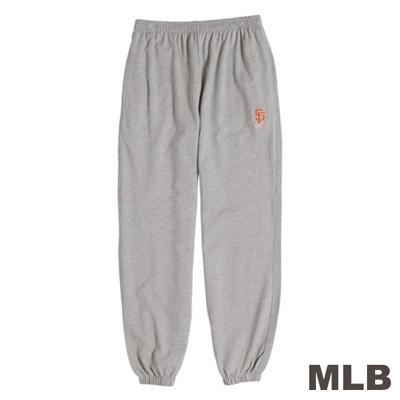 MLB-舊金山巨人隊運動舒適薄棉褲-麻灰(男)