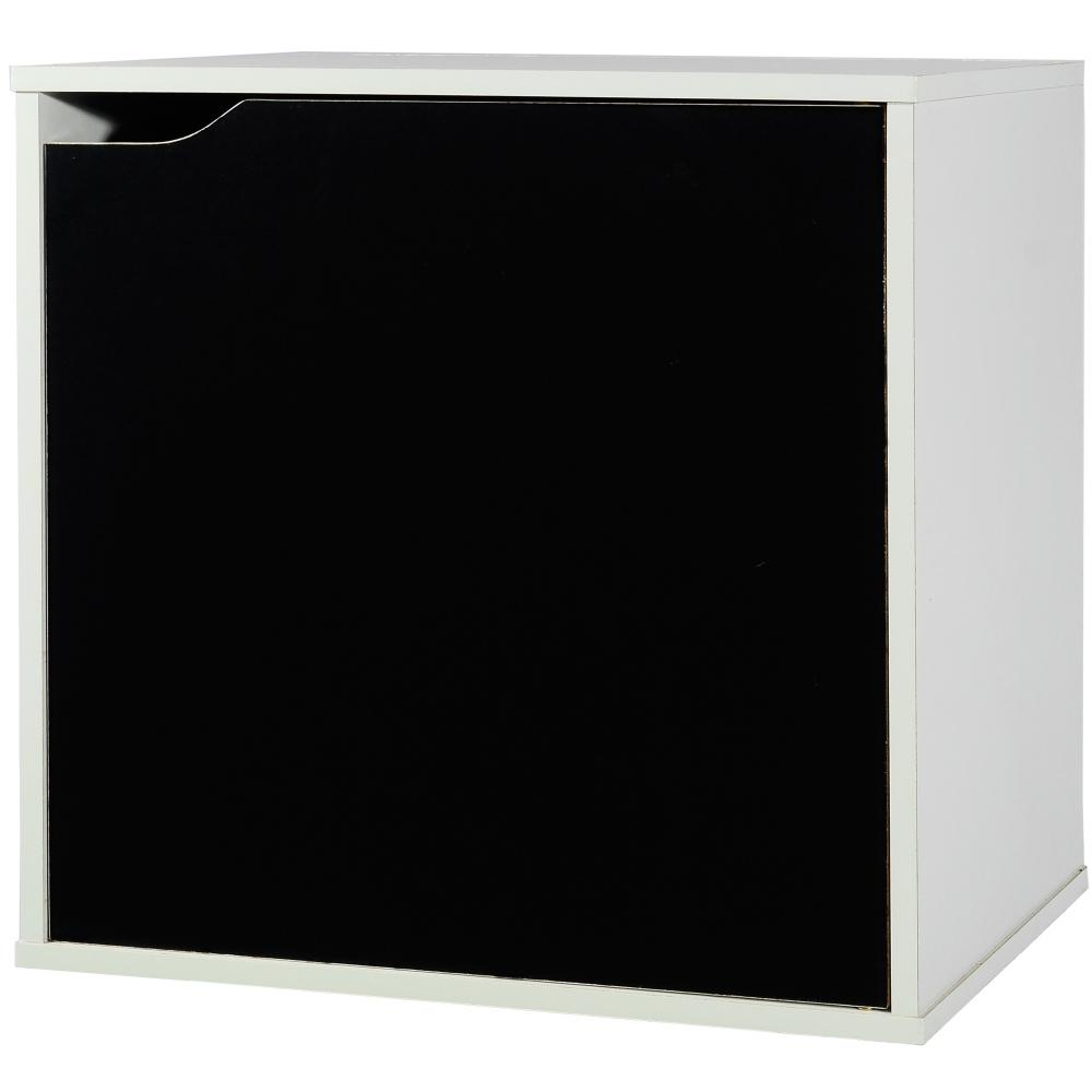 EASY HOME 魔術方塊單門收納櫃-太空黑