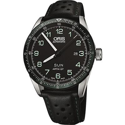Oris Calobra日曆星期限量表II-黑x綠圈/44mm
