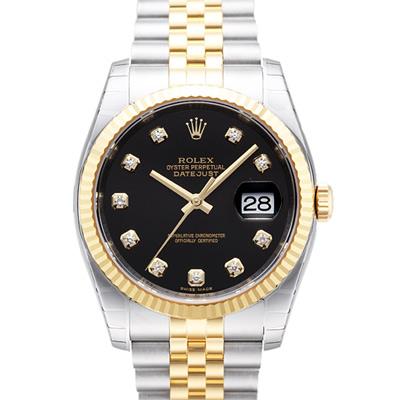 ROLEX 勞力士 DateJust 116233 蠔式恆動日誌型錶-黑色鑽面/37mm