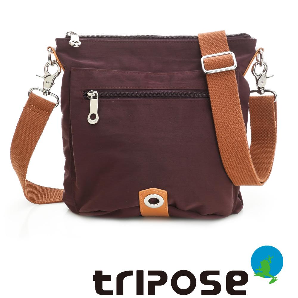 tripose MOVE系列輕巧多分層斜側包 - 深紫
