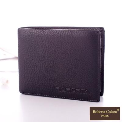 Roberta Colum - 法國荔枝紋軟牛皮上下翻卡片夾短夾-共<b>2</b>色