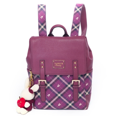 PLAYBOY-Apple-蘋果兔系列-後背包-紫