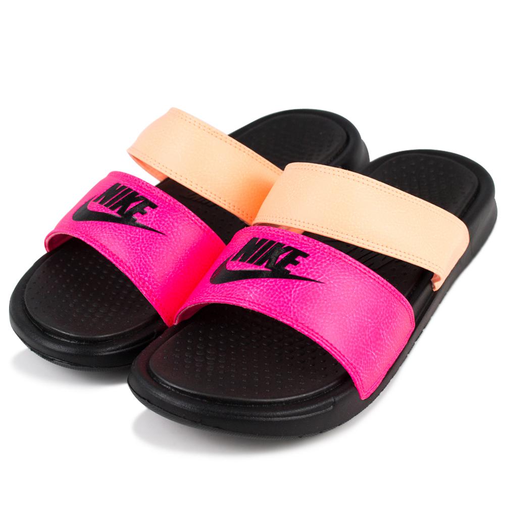 24H-NIKE-女運動涼拖鞋819717602-橘紅