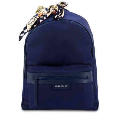 Longchamp Le Pliage Neo 厚尼龍後背包(大)-深藍色(加贈帕巾)