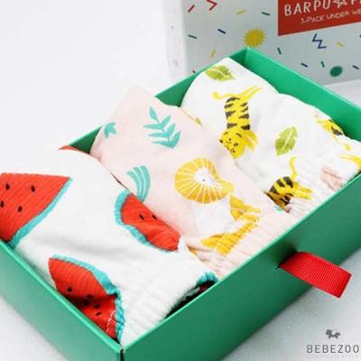 BEBEZOO 韓國 男寶動物造型三角內褲3件組禮盒