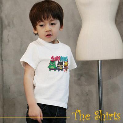 【The Shirts】超級英雄短袖T恤 (白色)