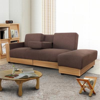 日安家居-Palais帕蕾絲多功能布沙發/沙發床-3人座+腳凳