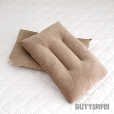 BUTTERFLY 可水洗彈性枕 棕 快乾滴水網布   二入組