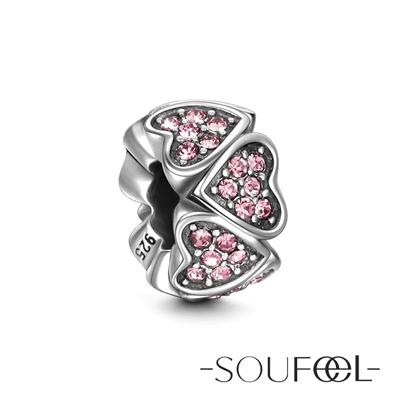 SOUFEEL索菲爾 925純銀珠飾 一見傾心 串珠