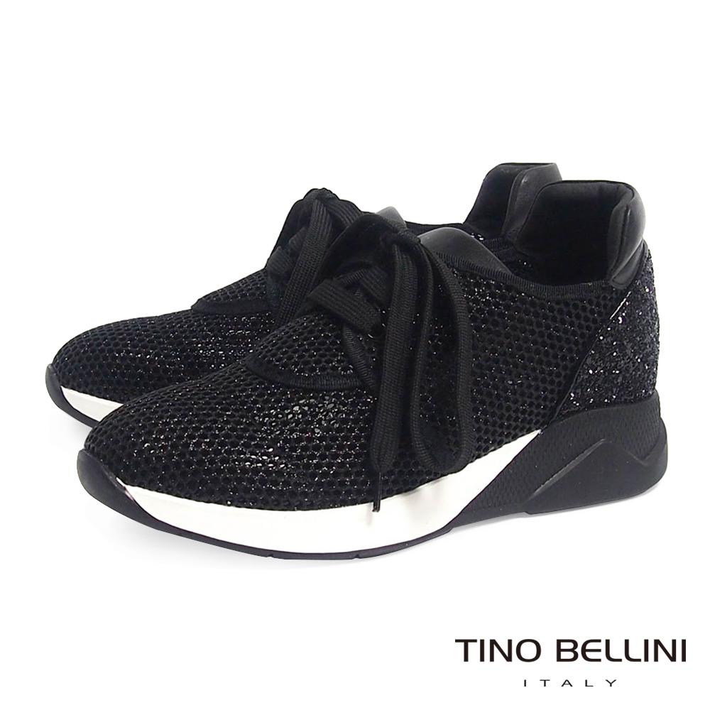 Tino Bellini閃礫網狀運動時尚休閒鞋黑
