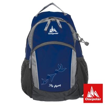 ONE POLAR 原野蜂窩透氣後背包-藍色 PL01653NY