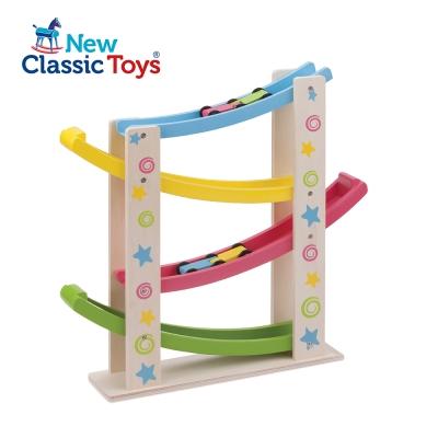 荷蘭【New Classic Toys】幼兒寶寶木製玩具-汽車滑坡道10540