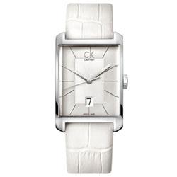 Calvin Klein Window 經典設計腕錶-白/31x46mm K2M21120