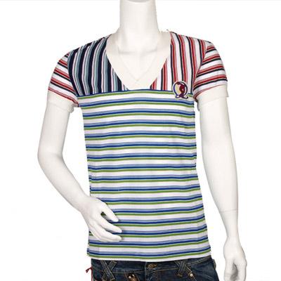 McQueen 紅 X 藍 X 綠條紋衫