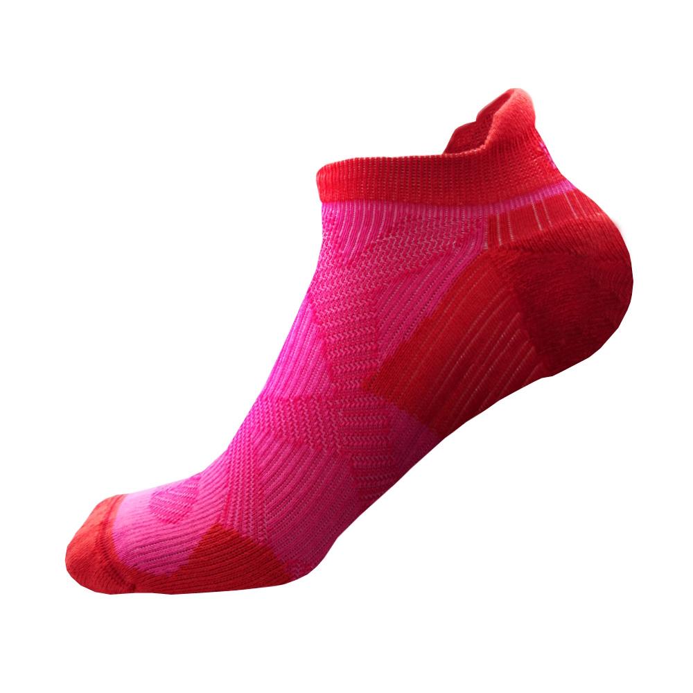 EGXtech 2X強化穩定壓縮踝襪(粉紅紅)超值2雙組