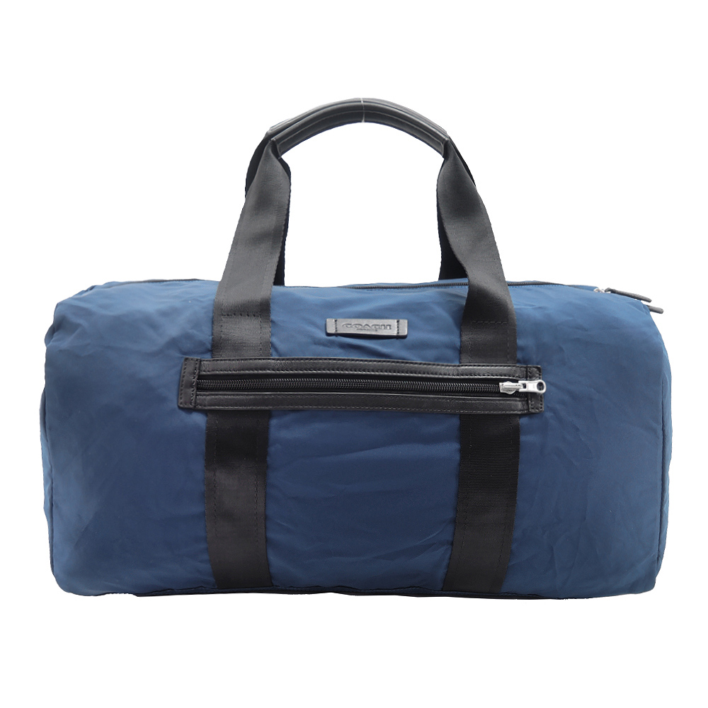 COACH 輕巧尼龍波士頓旅行袋(可收納)(藍)COACH