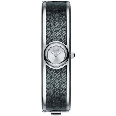 COACH Scout 亮麗幾何Logo小徑面手環錶(14502620)-黑/16mm