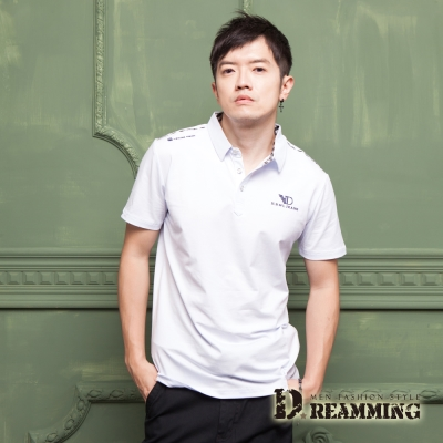 Dreamming 英倫紳士萊卡彈力短POLO衫-共二色