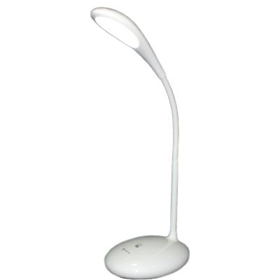 KINYO 可彎軟管純白USB充電觸控LED檯燈(PLED 866 )