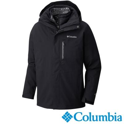 Columbia哥倫比亞  男款-防水羽絨兩件式外套-黑色 UWE00150BK