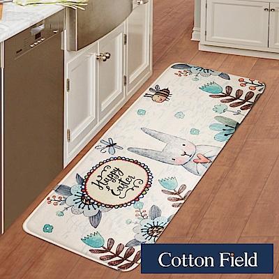 棉花田 米兔花園 法蘭絨印花防滑走道毯(39x108cm)