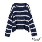 ROUSH 女生橫紋寬版針織衫 (2色)