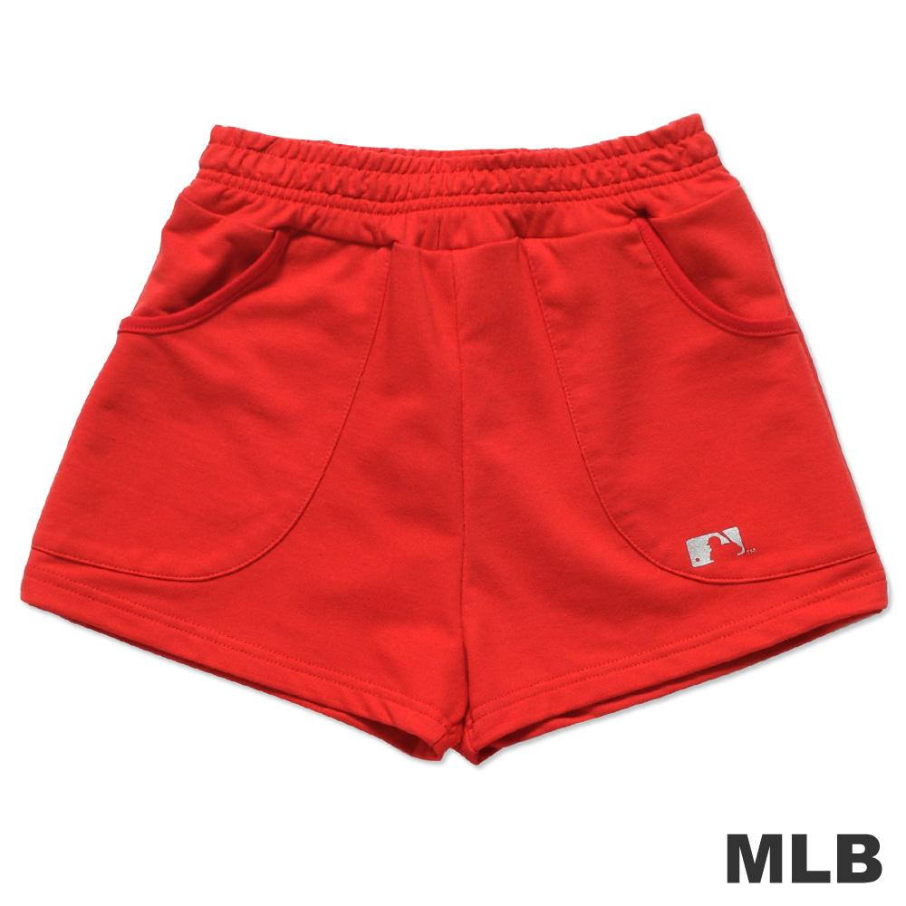 MLB-美國職棒大聯盟印花休閒短褲-紅(女)