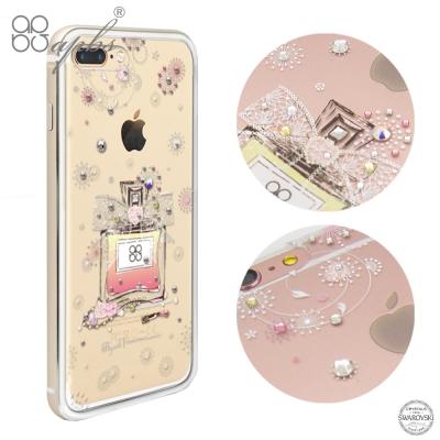 apbs iPhone8/7 Plus 5.5吋施華彩鑽鋁合金屬框手機殼-維也納馨香