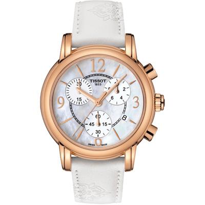 TISSOT DRESSPORT優雅花蕾腕錶(T0502173711700)金/35mm