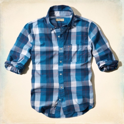 Hollister HCO 長袖 襯衫 藍色 0159