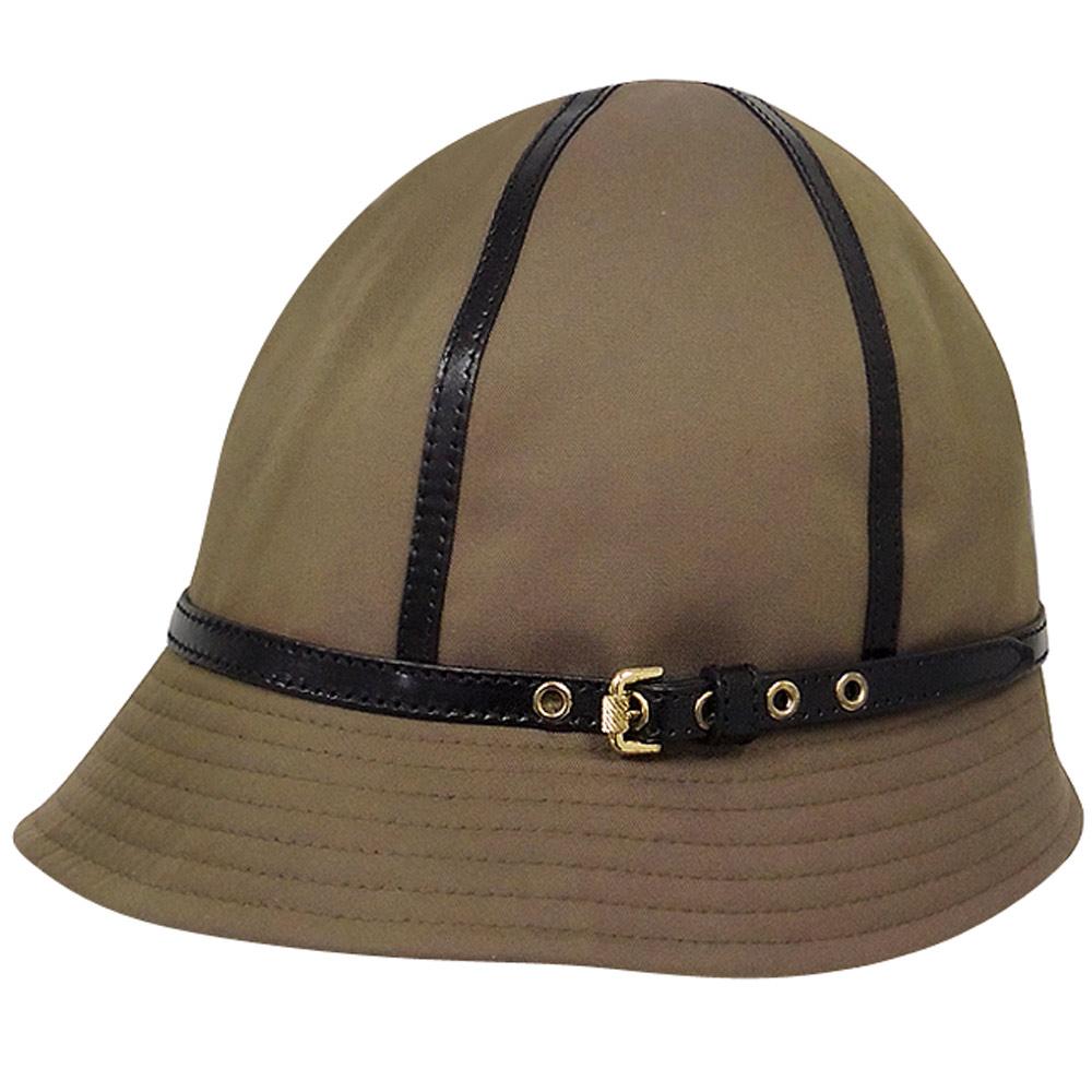 BURBERRY 皮帶釦環漁夫帽-S號/L號(咖啡色)